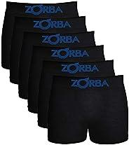 Kit 6 Cuecas Boxer Infantil, Zorba, Meninos