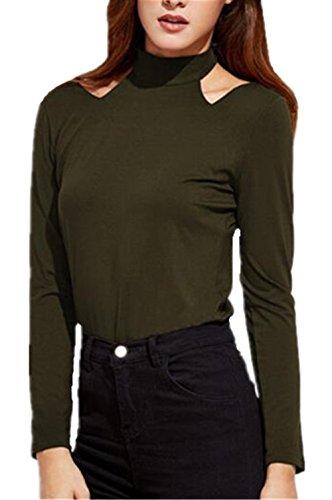Tayaho Camisetas De Manga Larga Mujer T-shirt Clasicos Casual Blusa Color Sólido Camisa Elegantes Ocasionales Camiseta Sencillos Bonitas Tops Cómodo ...