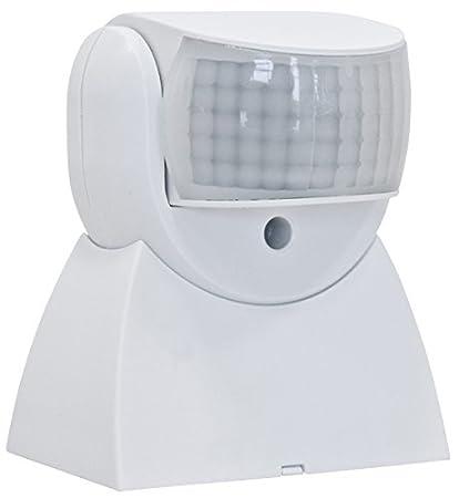 Hepoluz 27542 Detector Movimiento 180º IP65, Blanco