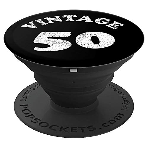 50th Birthday Gift Vintage 50 Year Old - PopSockets Grip and Stand for Phones and Tablets (Best Phone For 50 Year Old)