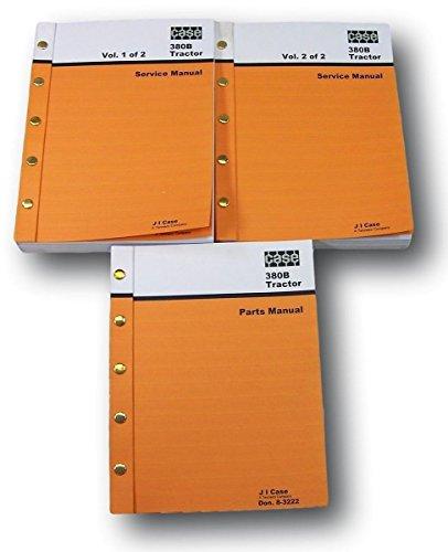 Lot Ih Case 380B Tractor Service Parts Catalog Manuals Repair Shop Technical