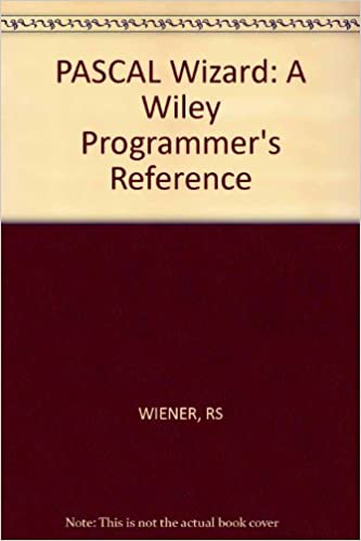 Buy Wiener: *pascal* Wizard-a Wiley Programmer′s Refer Ence(pr Only