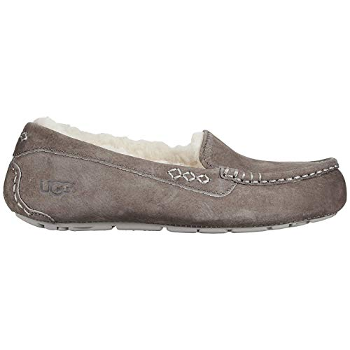 UGG Women's Ansley Moccasin, Slate, 8 M US (Fur Inserts For Boots)
