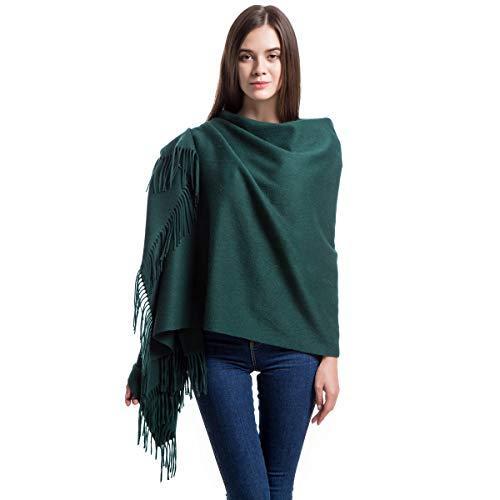 "Women Soft Cashmere Wool Wraps Shawls Stole Scarf - Large Size 78""x 28"" (DarkGreen)"