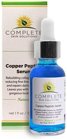 Copper Peptide Face Serum Collagen - With Anti Aging Skin Solutions Properties:1oz/30ml Anti-Wrinkle Formula For Youthful Skin-Promotes Collagen Production And Cell Rejuvenation–Heals Micro Wounds