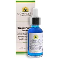 Copper Peptide Face Serum Collagen - With Anti Aging Skin Solutions Properties:1oz/30ml Anti-Wrinkle Formula For…