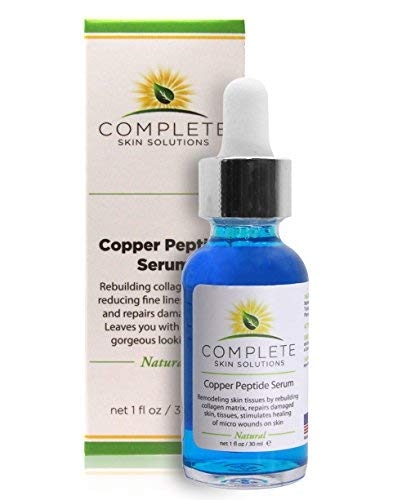 Copper Peptide Face Serum Collagen - With Anti Aging Skin Solutions Properties:1oz/30ml Anti-Wrinkle Formula For Youthful Skin-Promotes Collagen Production And Cell Rejuvenation-Heals Micro Wounds