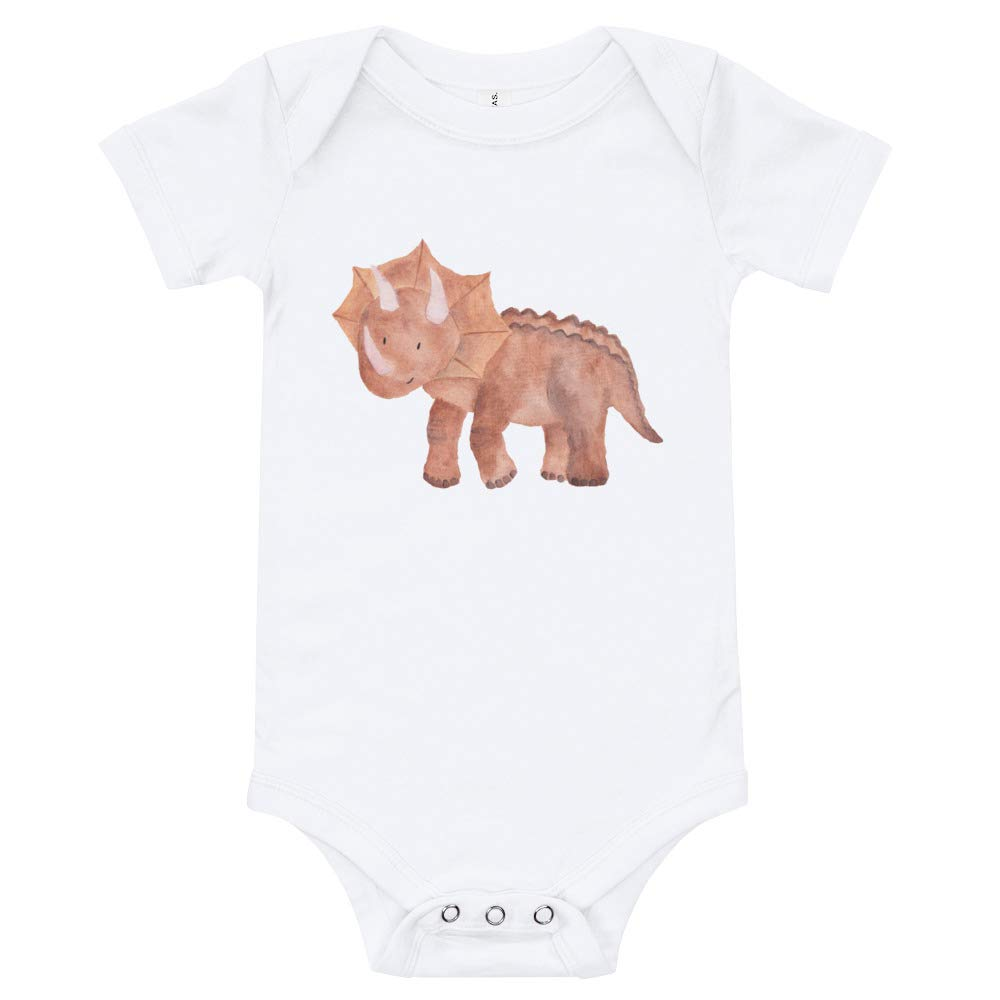 Happy Lazy Shade T-Shirt White Newborn Cute Dinosaur Onesie