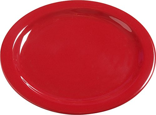 Carlisle 4385005 Dayton Melamine Dinner Plates, 10'', Red (Set of 48) by Carlisle