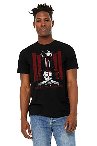 18351fd7b2d4 Marilyn Manson Fearful Symmetry Mens Black Tee (Medium)