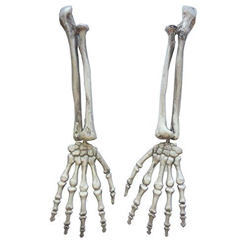 One Pair Halloween Plastic Skeleton Arm Life Size Halloween -
