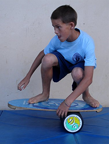 """INDO BOARD Original Balance Board with 6.5"""" Roller and 30"""" X 18"""" Non-Slip Deck – Wave Design by INDO BOARD (Image #6)"""