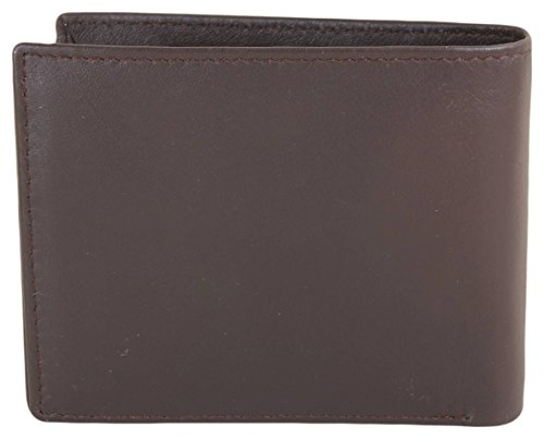 Reell Wallet Wallet Mens Leather Reell Brown Leather Button Button Mens rZn7xwrq
