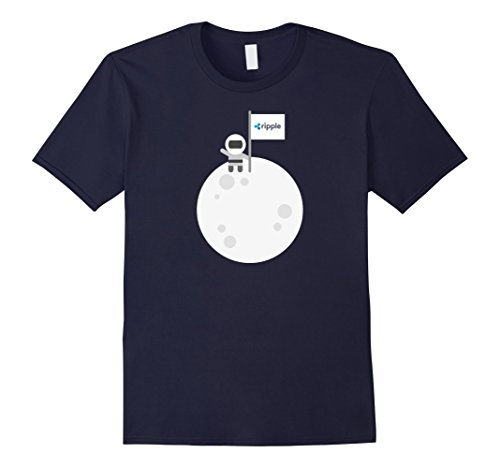 Mens Ripple To The Moon! | Astronaut Graphic XRP Flag T-Shirt 2XL Navy