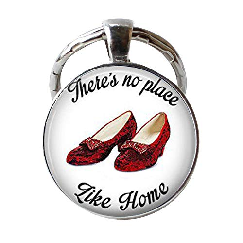 (Handmade Keychain,There's No Place Like Home,Ruby Slippers Keychain)