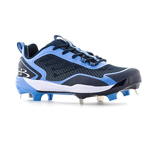 Boombah Mens Berzerk Metal Cleats - 4 Color Options - Multiple Sizes Navy/Columbia kbElX11