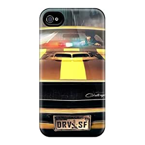 Shockproof Hard Cell-phone Cases For Iphone 4/4s With Customized Beautiful Dodge Challenger Series LavernaCooney