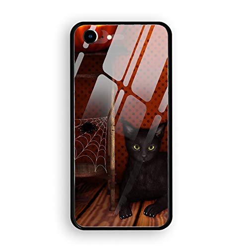 Halloween Trick Or Treat Personalized iPhone 7 Cover Shockproof Hard Tempered Glass Compatible for iPhone 7 Case 4.7