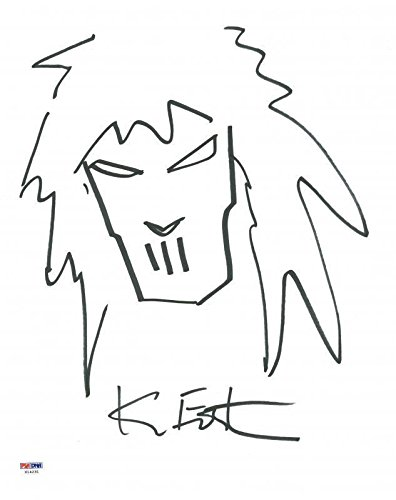 Kevin Eastman Ninja Turtles Signed 11X14 Casey Jones Sketch ...