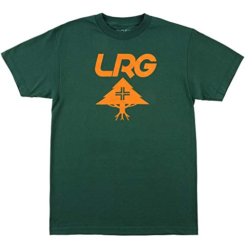 (LRG Men's Lifted Research Collection Graphic Design T-Shirt, Forest Green)