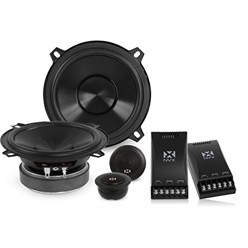 Dome Component - NVX 5 1/4 inch Professional Grade True 130 watt RMS 2-Way Component Car Speaker System [V-Series] with Silk Dome Tweeters [VSP525KIT]