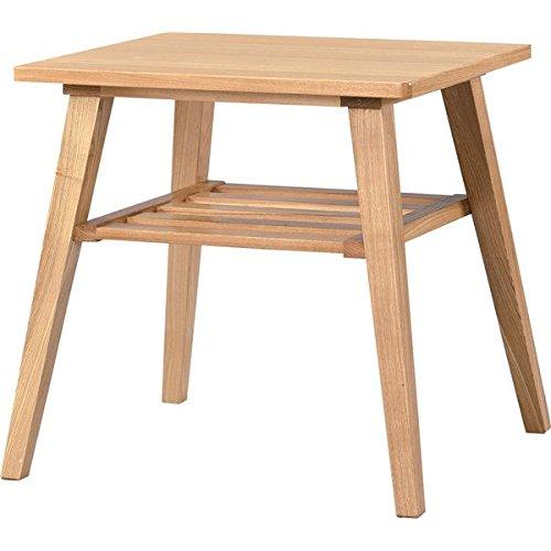 インテリア 家具 便利 おしゃれ サイドテーブル 【モティ】 長方形 木製 棚収納付き RTO-743TNA ナチュラル B01HT33R2S
