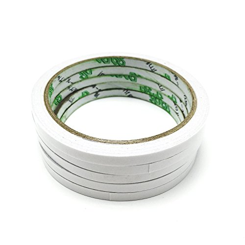 Vipe 5 Rolls/set 8mm Double Sided Super Strong Adhesive Tape