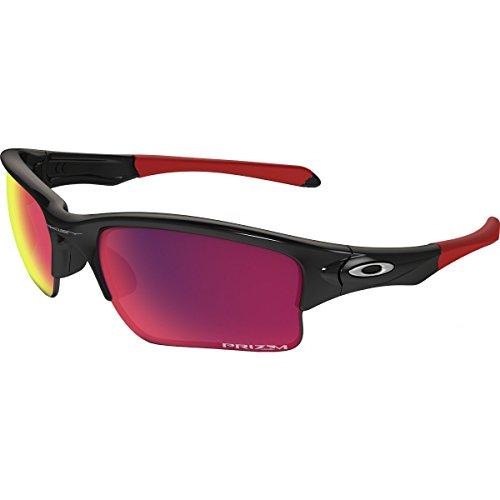 Oakley Men's Quarter Jacket Non-Polarized Iridium Rectangular Sunglasses, Polished Black, 61 mm by Oakley