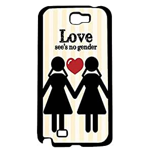 Women's Love See's No Gender (LGBT) Hard Snap on Phone Case (Note 2 II)