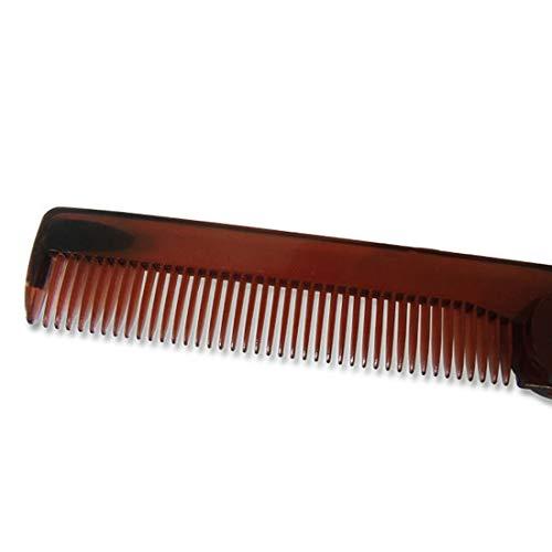 - 1 piece Mini Portable Folding Knife Type Comb Men's Oil Head Shape Comb Travel Commercial Plastic Small Pocket Hair Moustache Beard Comb