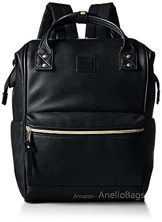 Amazon.com | Japan Anello Backpack Unisex BLACK LARGE PU