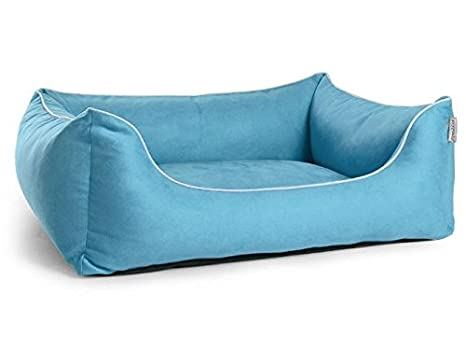 Cama para perros, perro Sofá worldcollection antelina/Velour en color azul claro 5 Tamaños, impermeable, antimanchas, ortopédica, Memory foam: Amazon.es: ...