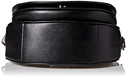 ASTOR SADDLE Shoulder Bag, BLACK