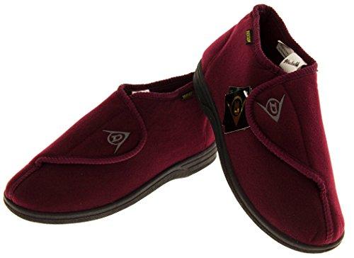 Footwear Studio - Zuecos para hombre Rojo Borgoña