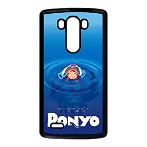 Ponyo Cartoon LG G3 Cell Phone Case Black PQN6053055389020