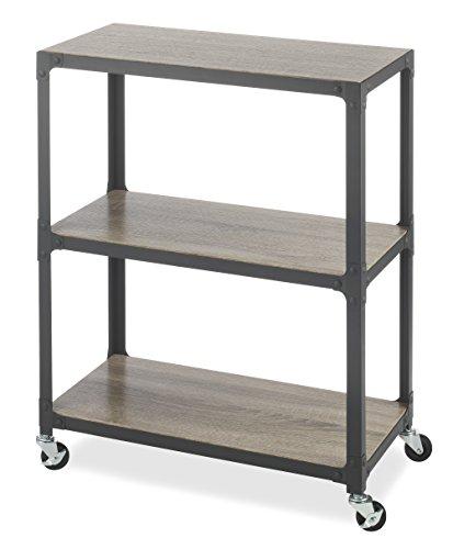 - Whitmor 3-Tier Metal & Wood Cart-Gunmetal
