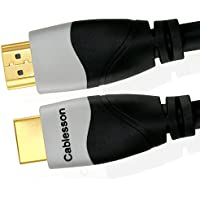 Cablesson Ivuna 13ft / 4m High Speed HDMI Cable (HDMI Type A, HDMI 2.1/2.0b/2.0a/2.0/1.4) - 4K, 3D,ARC, Full HD, Ultra HD, 2160p, HDR - for PS4, Xbox One, Wii, Sky Q. For LCD, LED, UHD, 4k TVs - Black
