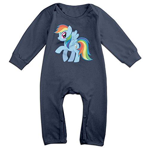 HOHOE Newborn Rainbow Horse Long Sleeve Bodysuit 24 (Ariana Grande Space Costume)
