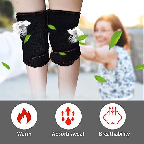 Knee Heating Knee Knee Pair Brace Men & Women Heat Compress for Muscles Pain Relief
