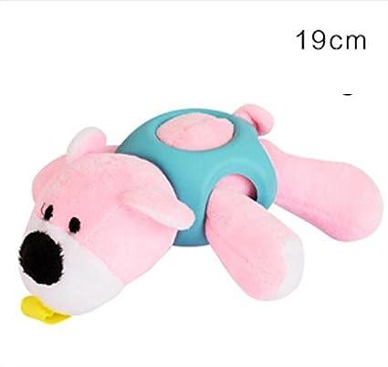 Ari_Mao Peluche en Forma de Oso de Peluche Molar Squeaky Toys Chew Toy con Goma para