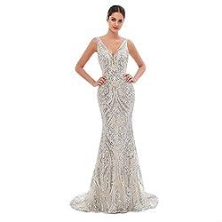 Style D (Silver) Long Sequin Mermaid Dress Sleeveless