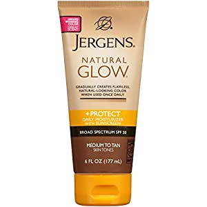 Jergens SPF Glow and Protect Body Lotion, 6 Ounce
