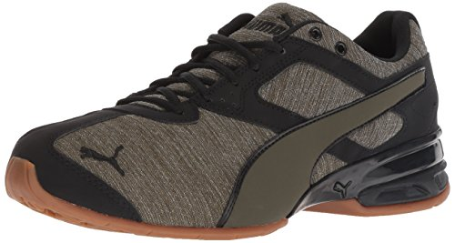 PUMA Men's Tazon 6 Heather Rip Sneaker, Forest Night Black, 7 M US ()