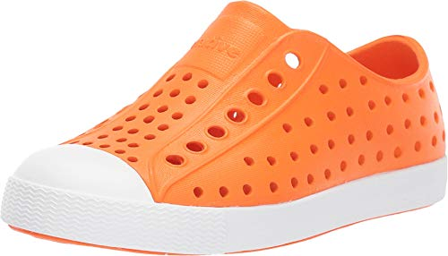 Native Kids Shoes Unisex Jefferson (Toddler/Little Kid) City Orange/Shell White 12 M US Little - Extra Shoes Wide