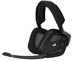 CORSAIR VOID PRO RGB Wireless Gaming Headset - Dolby 7.1 Surround Sound Headphones for PC - Discord Certified - 50mm Drivers - Carbon