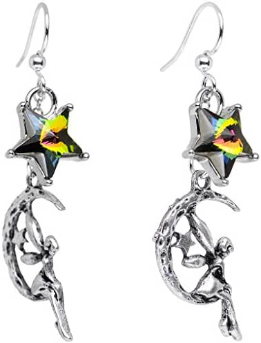 Body Candy Handcrafted Silver Plated Fairy Dangle Earrings Created with Swarovski Crystals