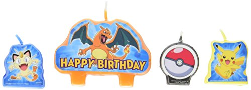 Pokemon Ash Costume X And Y (Pokemon Pikachu Birthday Candles 4 Pc)