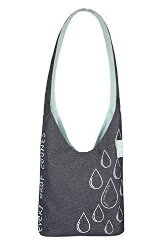Lässig Green Label Charity Shopper Ecoya–Bolso bandolera Anthracite/Dubarry Abricot Anthracite/Misty Jade Turquoise