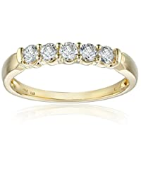 14k Yellow Gold and Diamond Anniversary Band (1/2 cttw, H-I Color, I2-I3 Clarity)
