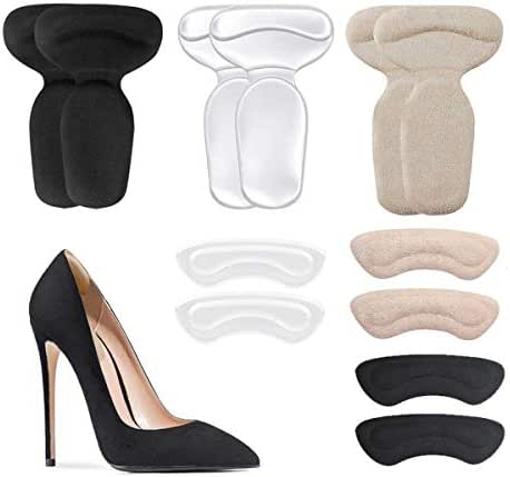 Heel Cushion Inserts - Reusable Soft Shoe Inserts & Heel Cushion Pads for Women Self-Adhesive Foot Care Protector Grips Liners for Womens Loose Shoes - Heel Pain Relief Bunion Callus Blisters- 6 Pairs